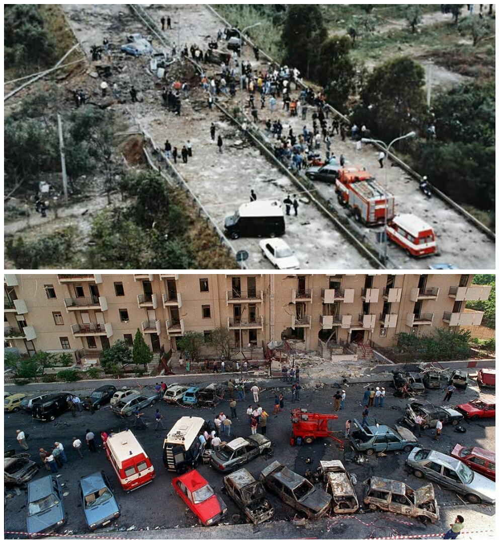 Bombs at Capaci and Palermo